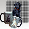 Black Lab Puppy Houndzstooth Mug