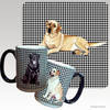 Yellow Lab Lying Houndzstooth Mug