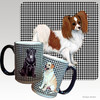 Red and White Papillon Houndzstooth Mug