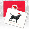 Black Lab Standing Christmas Cards