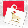 Yellow Lab Standing Christmas Cards