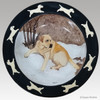 Hand Painted Original Style Rim Edge Serving Bowl - Yellow Lab