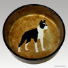 6 inch Boston Terrier Dog Bowl