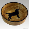 9 inch Black Lab Dog Bowl