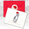 Pitbull Terrier with Cropped Ears Christmas Cards