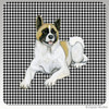 Akita Lying Down Houndstooth Coasters