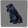 Black Cocker Spaniel Houndzstooth Coasters