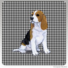 Beagle Puppy Houndstooth Coasters