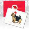 Black & Tan Norwich Terrier Christmas Cards