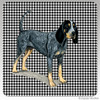 Bluetick Coonhound Houndzstooth Coasters