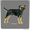 Black and Tan Border Terrier Houndzstooth Coasters