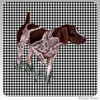 German Shorthair Pointer Houndzstooth Coasters