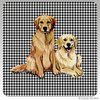 Golden Retriever Pair Houndzstooth Coasters