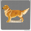 Standing Golden Retriever Houndzstooth Coasters