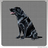 Black Lab Sitting Houndzstooth Coasters
