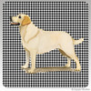 Yellow Lab Standing Houndzstooth Coasters