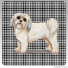 Lhasa Apso Puppy Clip Houndzstooth Coasters