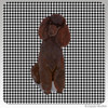 Chocolate Poodle Houndzstooth Coasters