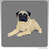 Lying Pug Houndzstooth Coasters