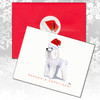 White Poodle Christmas Cards