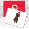 Chocolate Poodle Christmas Cards