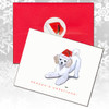 Poodle Puppy Christmas Cards