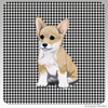 Welsh Corgi Puppy Houndzstooth Coasters