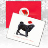 Black Pug Christmas Cards
