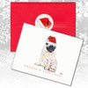 Sitting Pug Christmas Cards