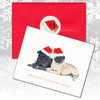 Pug Pair Christmas Cards