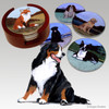 Bernese Mountain Dog Bisque Coaster Set
