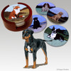 Catahoula Leopard Dog Bisque Coaster Set