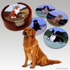 Sitting Golden Retriever Bisque Coaster Set