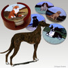 Standing Greyhound Bisque Coasters