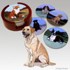 Labrador Retriever, Yellow Bisque Coaster Set