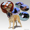 Mastiff Bisque Coaster Set