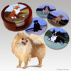 Pomeranian Bisque Coaster Set