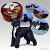 Portuguese Water Dog Bisque Coaster Set