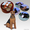 Welsh Terrier Bisque Coaster Set
