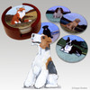 Wirehaired Fox Terrier Bisque Coaster Set