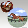 Mare & Foal Bisque Coaster Set