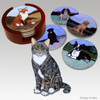 Tabby Cat Bisque Coaster Set
