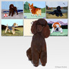 Chocolate Poodle Scenic Mouse Pad