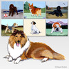 Collie Scenic Mouse Pad