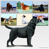 Standing Black Lab Scenic Mouse Pad