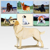 Standing Yellow Lab Scenic Mouse Pads