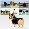Tri Color Corgi Scenic Mouse Pads