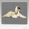 Afghan Hound Houndstooth Mouse Pad