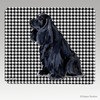 Black American Cocker Houndstooth Mouse Pad