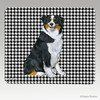 Tri Colored Aussie Shepherd Houndstooth Mouse Pad